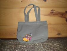 Hello Kitty beige cloth Tote Bag w/ inside pockets ~ Girls purse ~  embroidery