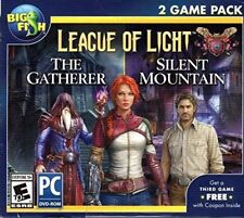 Big Fish League of Light THE GATHERER + SILENT MOUNTAIN-PC NEW FREE SHIPPING!!