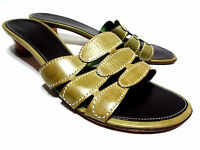 Cole Haan Green Mules Slides Womens Sandals Shoes 7.5 B