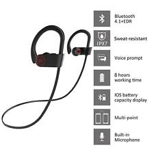 Sweatproof Wireless Bluetooth Earphone Headphone Sport Gym For iPhone Samsung