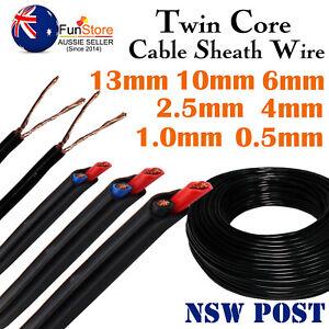 Twin Core Cable,Dual PVC Sheath Wire,Auto Ute Van RV SUV Camper Truck Boat Solar