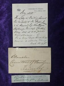 Princess Helena, daughter of Queen Victoria, letter, envelope and Signature