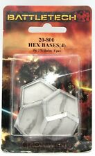 Battletech 20-800 Hex Bases (4) 25mm Metal Miniature Stands Mech Accessories NIB