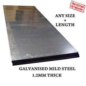 CUSTOM SIZE - 1.2 MM MILD STEEL SHEETS PLATE GALVANISED METAL WELDING MATERIAL