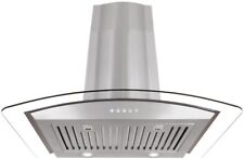 Ducted Wall Mount Range Hood 30 in. 760 Cfm Led Permanent Filter Stainless Steel