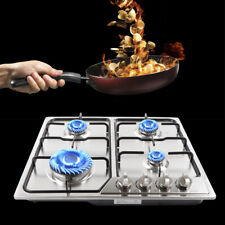 """Usa 23"""" 4 Burners Built-In stainless steel CookTop Gas Stove Ng/Lpg kitchen Cook"""