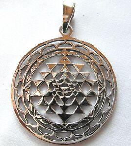 Sterling Silver 925  Sri  Yantra  Pendant   (6 Grams)  !!     Brand  New  !!