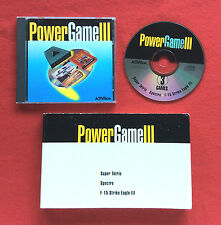 Power Game III for PC Super Tetris Spectre and F15 Strike Eagle III