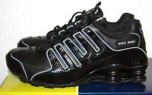 OG 2005 NIKE SHOX NZ TRAINERS TRIPLE BLACK SHINY SKEPTA AM 97 UK 5.5 EU 38.5