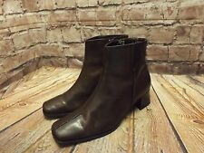 Womens Caravelle Flex Brown Leather Zip Fastening Ankle Boots UK 5 EU 38