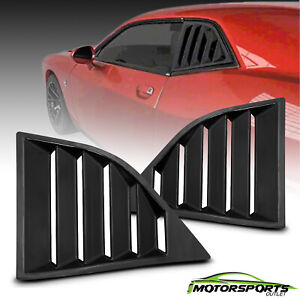 Fit 2008-2017 Dodge Challenger GT Lambo Style Glossy Black Side Window Louvers