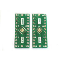 2PCS QFN24 0.65mm 0.5mm zu 2.54mm DIP Adapter PCB Brett-Konverter IC-Test