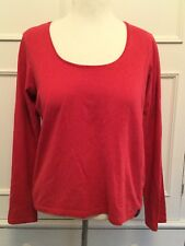 "SEASALT, DUSKY RED ""RIO SCOOP NECK"" LONG SLEEVE TSHIRT, TOP, SIZE 14"