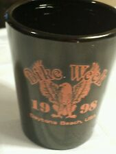 Bike Week  - Daytona Beach - 1998- Black Ceramic Shot Glass