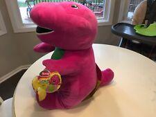 "New Jumbo 26"" Barney the Dinosaur Speak N Sing Plush Stuffed Animal Fisher-Price"