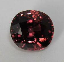 Natural Red Zircon 8.76 Ct. Oval 11.3 x 10.3 mm Deep Red Purple