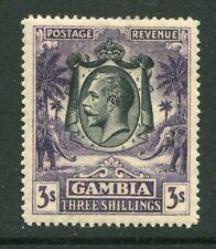 More details for gambia 1922 george v 3/- stamp sg138 mm - dg331