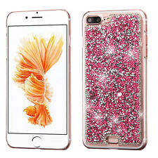 For Apple iPhone 8 7 Plus 7 Bling Hybrid Glitter TPU Protective Hard Case Cover