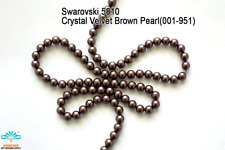 50 Beads Swarovski #5810 Crystal Velvet Brown Pearl 001-951