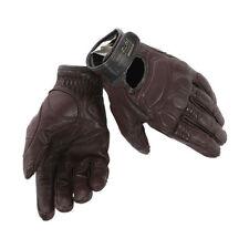 Dainese Black Jack Retro Motorrad Leder Handschuhe Gr. M - Dunkel Braun