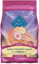 Blue Adult Indoor Hairball Control Chicken & Brown Rice Dry Cat Food 3-lb