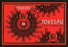Tokelau Scott #325 MNH S/S LUNAR NEW YEAR 2004 - Monkey FAUNA CV$5+