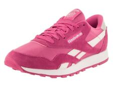 REEBOK CLASSIC SUEDE NYLON PINK WHITE 6Y MENS 6 WOMENS 7.5 NEW