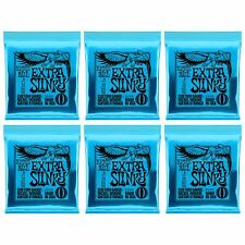 6 Sets of Ernie Ball 2225 Extra Slinky Nickel Wound Electric Guitar Strings 8-38