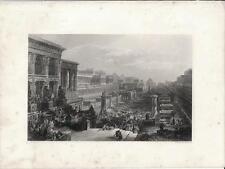 Stampa antica PARTENZA EBREI DALL' EGITTO David Roberts 1857 Old antique print
