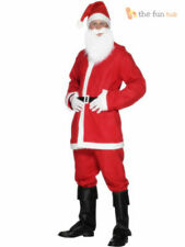 Mens Santa Claus Bargain Costume Father Christmas Suit Xmas Fancy Dress Outfit