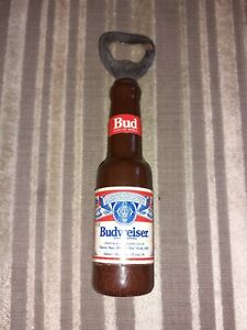 Vintage Budweiser Wood Bottle Opener