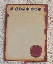 Cardstock---7.5 cm  Wide  x  10 cm High--Vintage Style  (3)