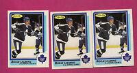 3 X 1986-87 OPC # 169  LEAFS BORJE SALMING  CARD (INV#3659)