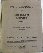 HILLMAN Husky Mark 1 Original Car Parts List Aug 1954 #H.195
