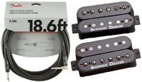 Seymour Duncan Black Winter Humbucker Guitar Pickup Set In Black ( FENDER 18FT )