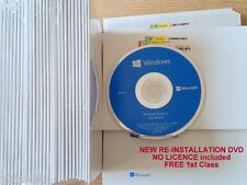 5 x Microsoft Windows 10 Home 64Bit UK, installation DVD NO Licence UK VAT inc
