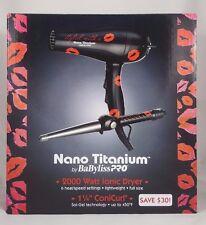 """BaByliss PRO Nano Titanium 2000 Watt Ionic Hair Dryer + 1.25"""" ConiCurl BABNTKPP1"""
