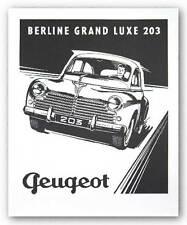 MUSEUM ART PRINT Peugeot 203 Berline