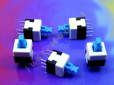Stk. 5x MINI Schalter / Switch 8x8mm LATCHING Mikroschalter THT PCB #A609