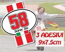 ADESIVO MARCO SIMONCELLI numero 58 SUPER SIC 3pz. !!!