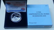 Año 2003. 10 EUROS DE PLATA. ESPAÑA. X Campeonatos del Mundo de Natación 2003.