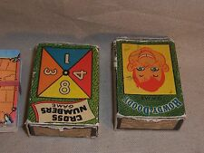 Lot of 3 mini playing game cards HOWDY DOODY CROSS NUMBERS & Rare Airline TWA