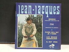 JEAN JACQUES Maman Eurovision 1969 label rose et blanc EP1263