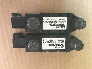 2 Volvo xc90 Airbag SRS Front Impact Sensors OEM 30682590