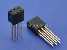 10pcs 2x3Pin Dual Row 15mm Tall Header Socket Connector, for Arduino ICSP.