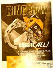 RING SAW DOES IT ALL 1976 product data + PRICE LIST = RS141 Catalog Flyer  #RR10