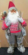 Weihnachtsmann Nikolaus - Dekofigur mit Holz Naturmaterialien (Handarbeit) 31378