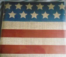 PATRIOTIC STARS STRIPES Flag Country 12 x 12 Blank MBI Scrapbook Album 20 Pages