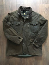 Barbour Mens Size Medium Brown Waxed Classic Style Jacket Coat Cord Collar