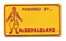 Vintage McDONALD'S kids license plate RONALD McDONALD fast food premium toy